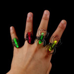 Assorted Light Up Spider Rings (4 Pack)
