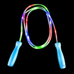 """100"""" Light Up Jump Rope - Blue with Green Handles"""