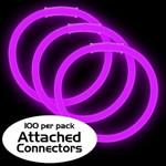 "8"" Purple Premium Glow Bracelets (100 Pack)"