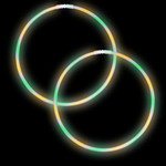 "22"" Premium Swirl Glow Necklaces Green/Yellow/Purple (50 per Pack)"