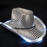 Silver Light Up Cowboy Hat