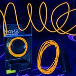 EL Wire String Light Orange 6-foot (3-Mode)