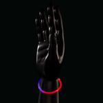 """8"""" Red/Blue Bi-Color Glow Bracelet (50 Pack)"""