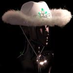 White Premium LED Cowboy Hat