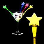 """7"""" Assorted LED Star Cocktail Stirrers (12 Pack)"""