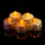 Orange Waterproof Tea Lights-12 Pack