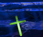 Green Glow Cross Necklaces (50-Pack)