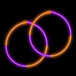 """22"""" Premium Bi-Color Glow Necklaces Purple/Orange (50 per Pack)"""