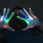 Rainbow LED Gloves