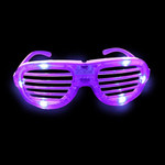 Purple LED Shutter Glasses