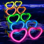 Glow Heart Shaped Glasses- 12 Pack