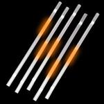 Orange Glow Straws (25 Pack)