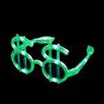 Flashing LED Dollar Glasses: Green