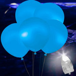 Blue LED Balloons 5 Pack (NEW!)