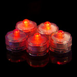 Red Waterproof Tea Lights-12 Pack