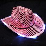 Pink Light Up Cowboy Hat