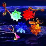 Light Up Jelly Star Necklace - 12 pack