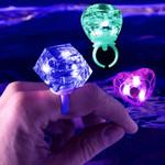 LED Diamond Bling Rings Assorted Shapes 24pk
