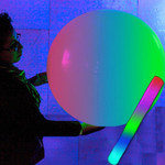 """Giant Beach Ball with LED Stick - 24"""" Diameter- 5 pack"""