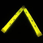 GLOW STICK YELLOW WITH CROSS PRINTS