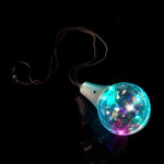 "32"" Multicolor Disco Ball Prism Necklace"
