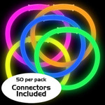 "8"" Assorted Premium Glow Bracelets (50 Pack)"