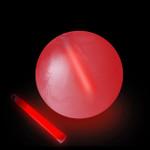 "10"" Red Glow Beach Ball"