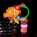 Flashing Clown Fish Bubble Gun - 2 Bottles