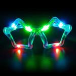 Flashing Star Sunglasses: Multicolor