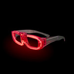Red Sound Activated LED Party Glasses