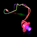 Assorted LED Jelly Pacifiers (12 pack)
