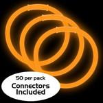 """8"""" Glow Bracelets: Orange (50-Pack)"""