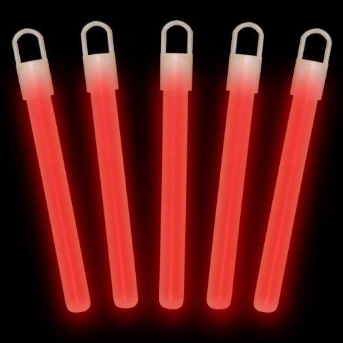 "Red 4"" Glow Sticks (50-Pack)"
