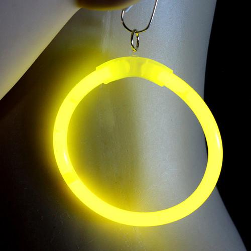 Yellow Glow Hoop Earrings