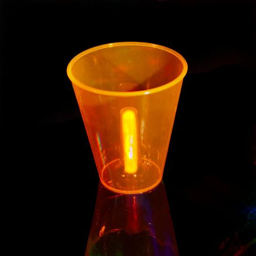 Glow Cups w/12 Assorted Glow Sticks