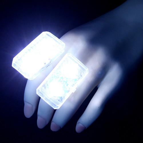 White LED Music Sensor Ring (2 Pack)