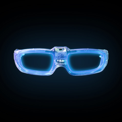 Blue Sound Activated LED Party Glasses