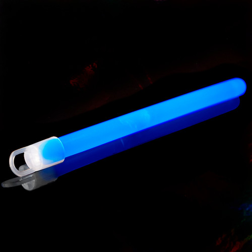 6 inch Slim Glow Sticks Blue 50 pk