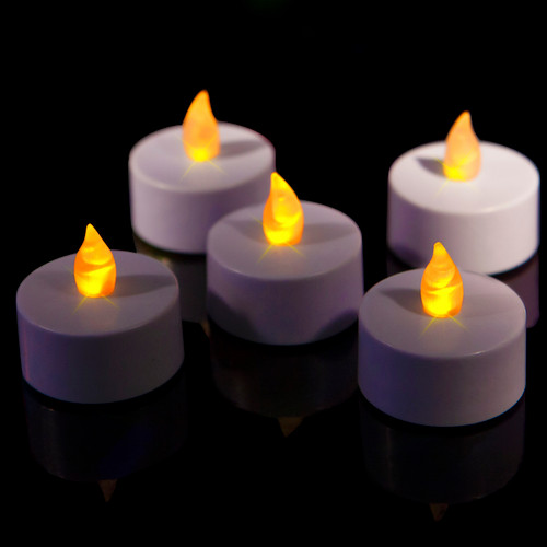Flameless Mini Tea Candle Flickering Yellow (Singles)