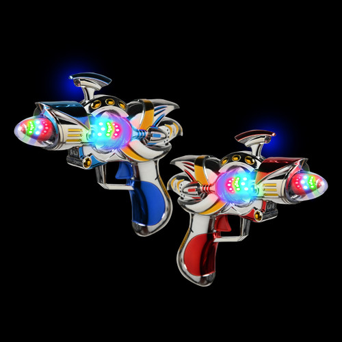 Multicolor LED Magic Spinner Guns (2 Pack)