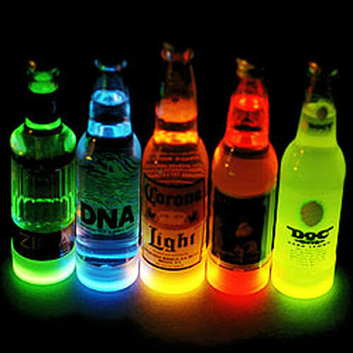 Glow Bottle Collars 50 pk Yellow