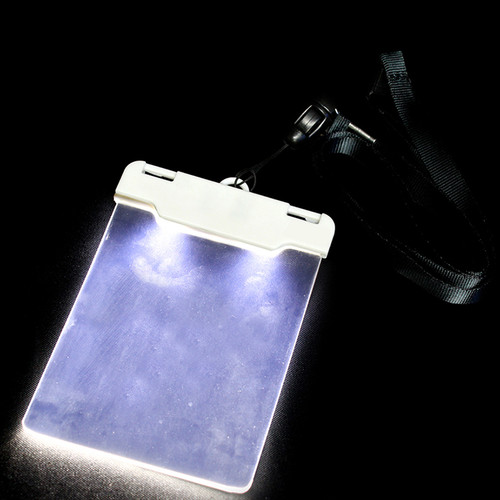 Sound Activated White LED Light Up Badge