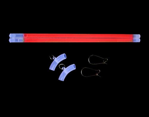 Red Glow Hoop Earrings