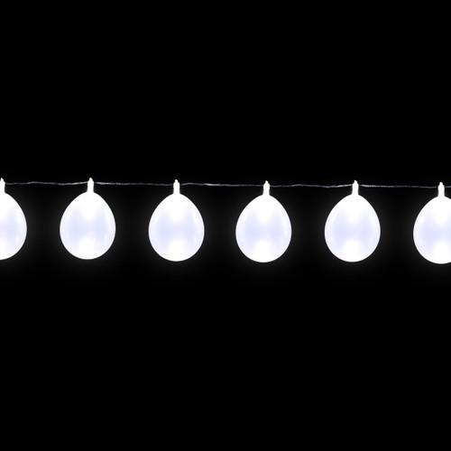 LED Balloon String Lights - 13 feet/10 Balloons - Pearl White