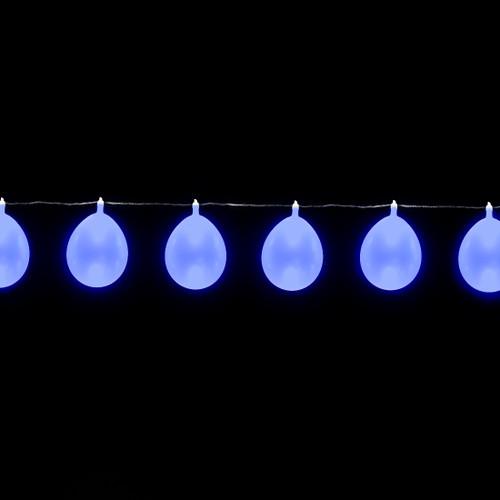 LED Balloon String Lights - 13 feet/10 Balloons - Blue