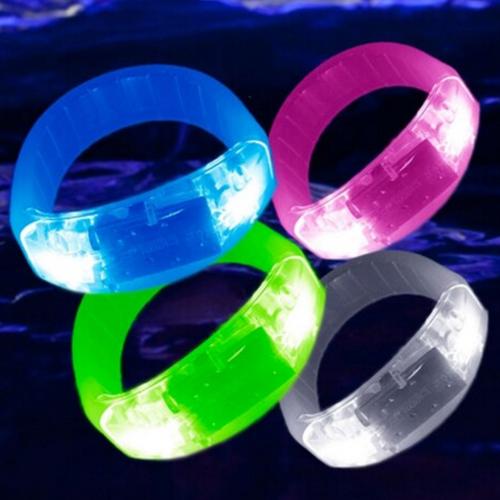 White LED Music Activated Bracelet