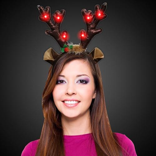 LED Reindeer Antler Headband