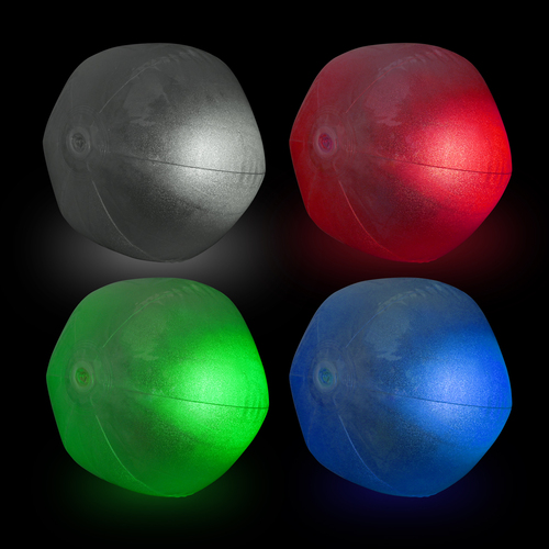 "12"" RGB LED Glitter Beach Ball"