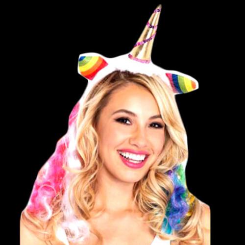 Multicolor LED Unicorn Headband