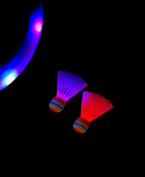 Multicolor LED Shuttlecocks - 4 Pack